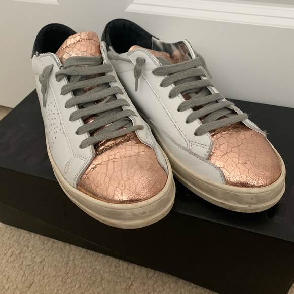 P448 Shoes   P448 Rose Gold Sneakers